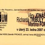 Výstava ve foyeru JD 2007
